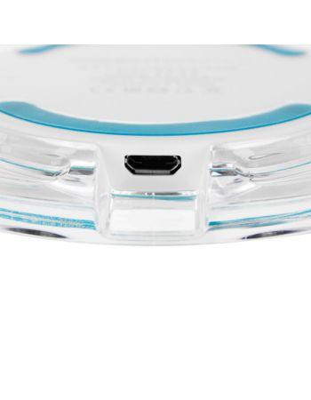 Беспроводное зарядное устройство InterStep QI 7,5W White/Blue Stripe
